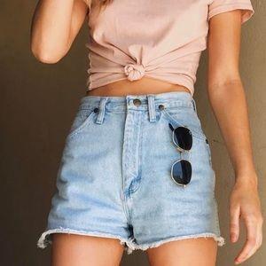 • brandy melville • high waisted jean shorts